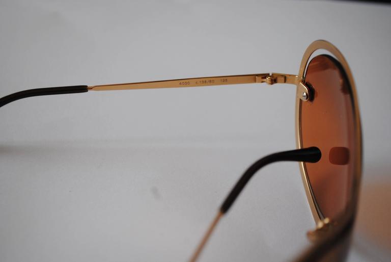 Chanel Peach Gold Sunglasses For Sale 3