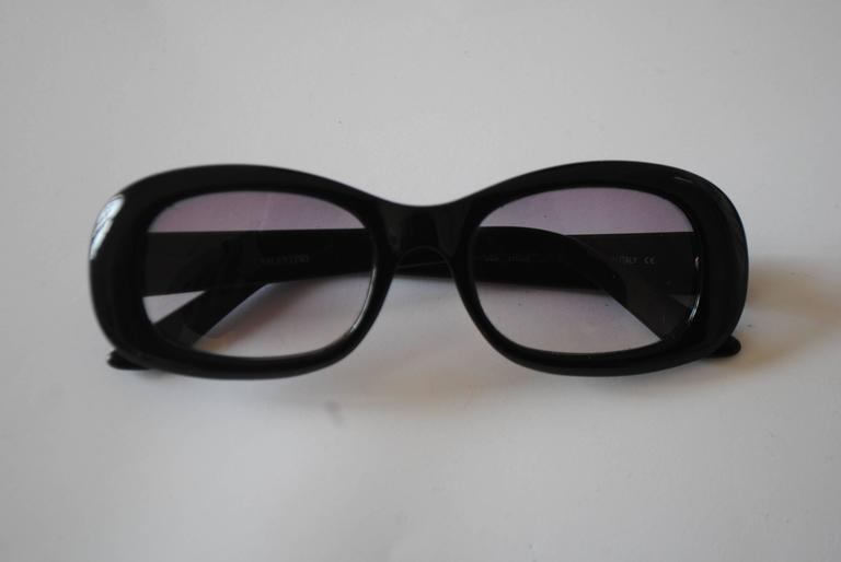 Valentino black sunglasses For Sale at 1stdibs