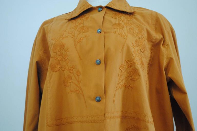 Brown Rare Moschino Jeans Kaki Shirt For Sale