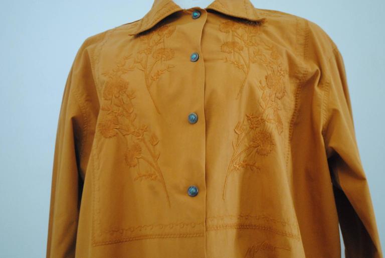 Rare Moschino Jeans Kaki Shirt In Excellent Condition For Sale In Capri, IT