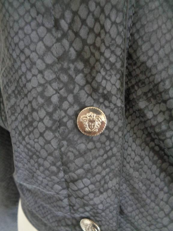 Versace Jeans Couture Grey python print Jacket In Excellent Condition For Sale In Capri, IT