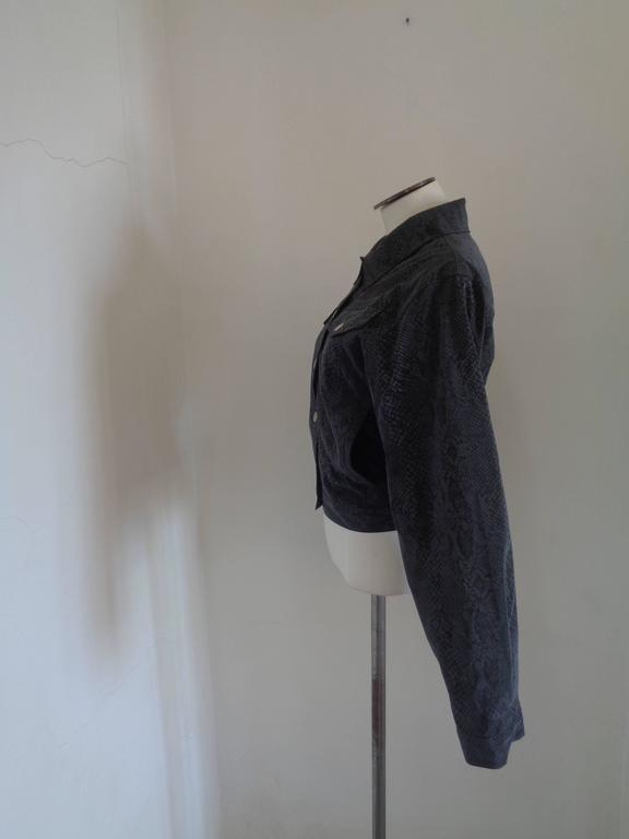 Versace Jeans Couture Grey python print Jacket For Sale 3