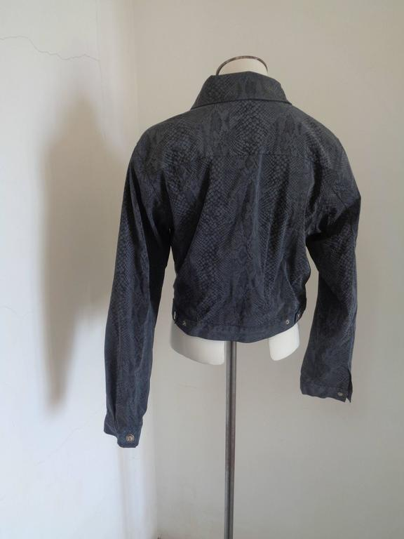 Versace Jeans Couture Grey python print Jacket For Sale 1