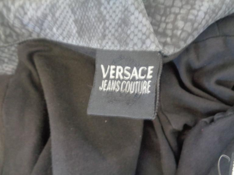 Versace Jeans Couture Grey python print Jacket For Sale 2