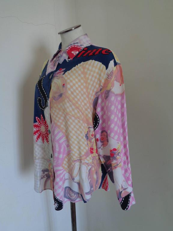 Byblos Blu multicoloured shirt  Totally made in italy in size 42