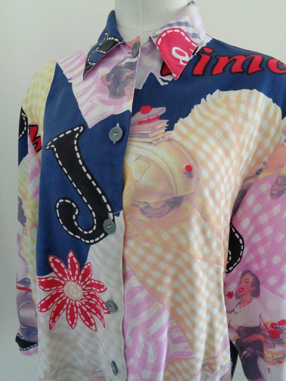 Byblos Blu multicoloured shirt In Excellent Condition For Sale In Capri, IT