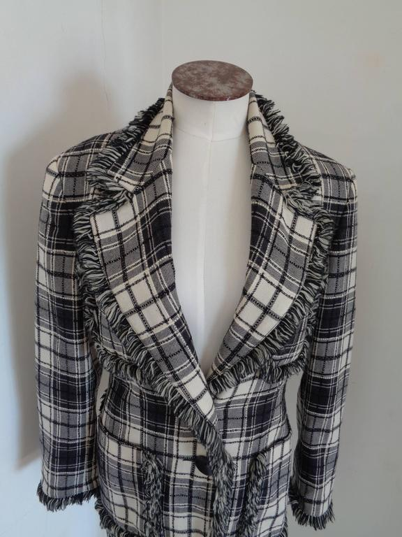Oaks by Gianfranco Ferre Black & White Jacket  Totally made in italy in size 40  Composition: Wool
