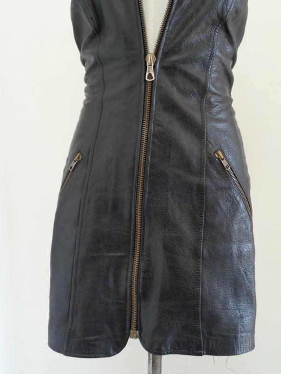 Moschino Cheap & Chic Black Leather Dress  Totally made in italy in size M