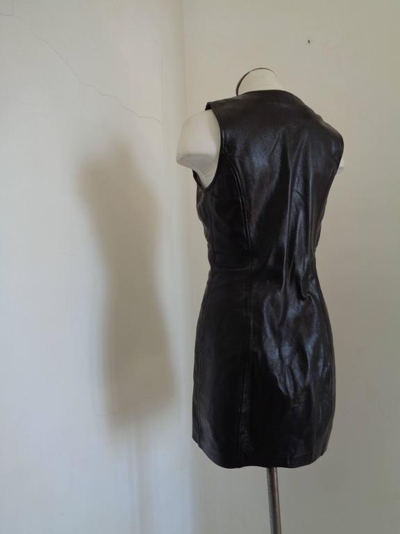 Moschino Cheap & Chic Black Leather Dress 5