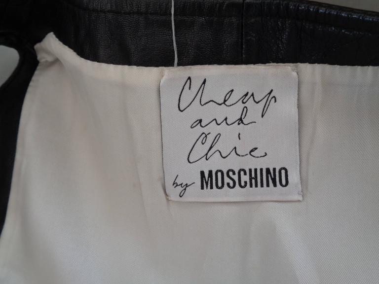 Moschino Cheap & Chic Black Leather Dress For Sale 2