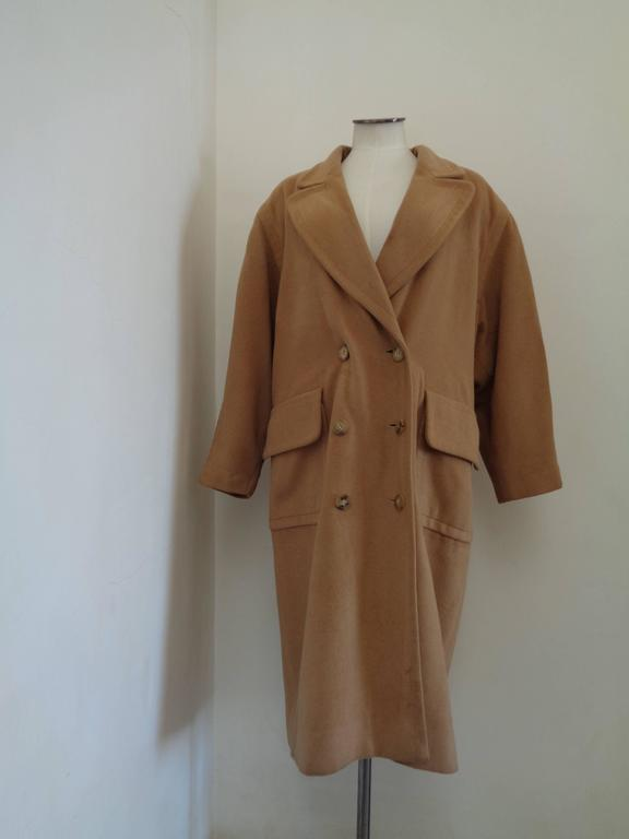 Hermes Paris Brown Cashmere Coat  Totally made in france in size xs