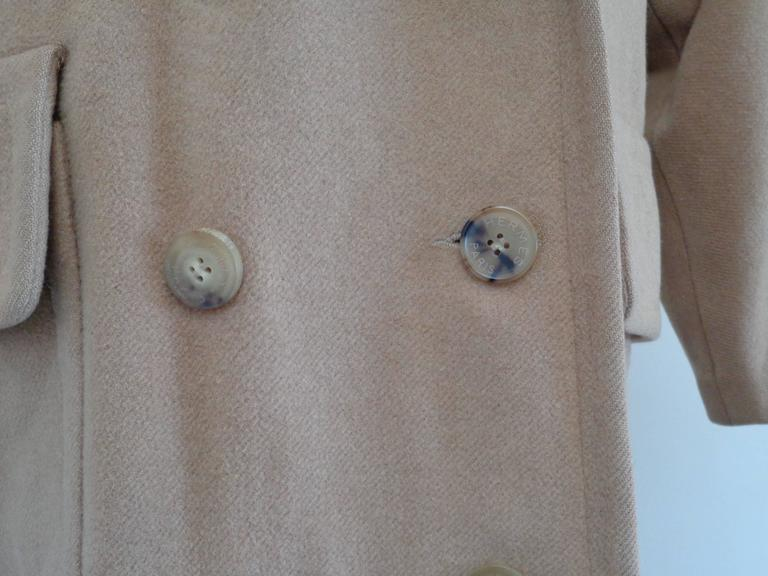 Hermes Paris Brown Cashmere Coat In Good Condition For Sale In Capri, IT