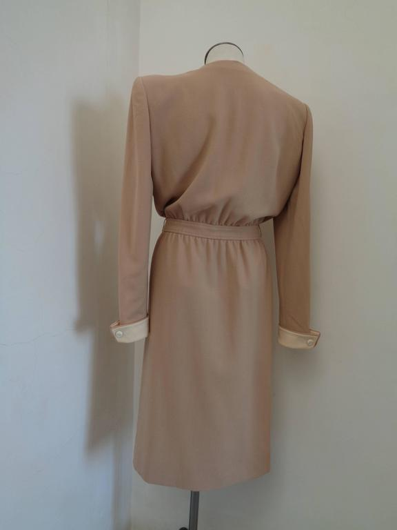 Women's or Men's 1976 Valentino Beije Cream Dress For Sale