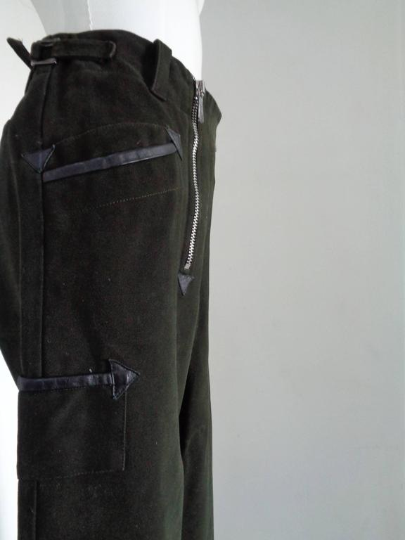 Versace military Green Cotton Pants  Totally made in italy in size M