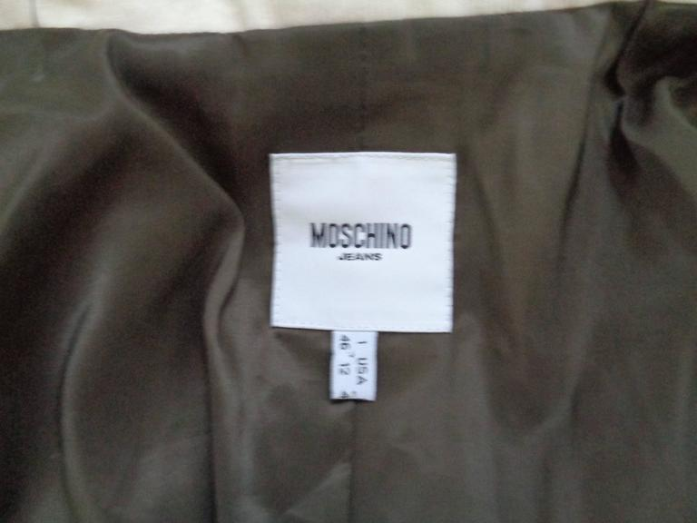 Moschino Jeans White cotton Jacket For Sale 1