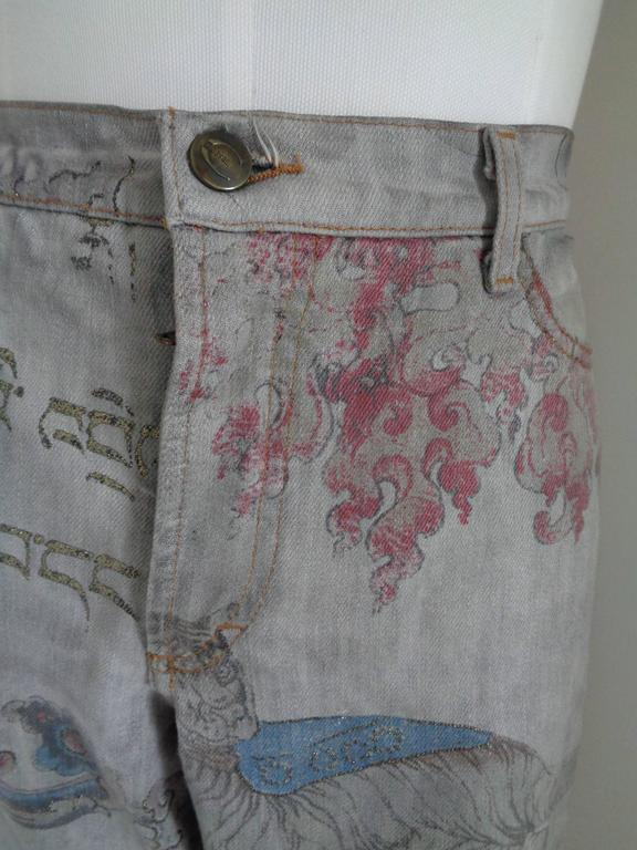 Gray Roberto Cavalli Just Cavalli Jeans Cotton Denim For Sale