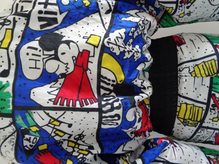 Black J.C de Castelbajac multicolour Jumpsuit  For Sale