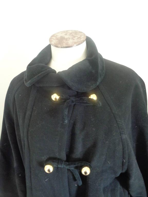 Moschino Cheap & Chic Black Wool Coat In Excellent Condition For Sale In Capri, IT