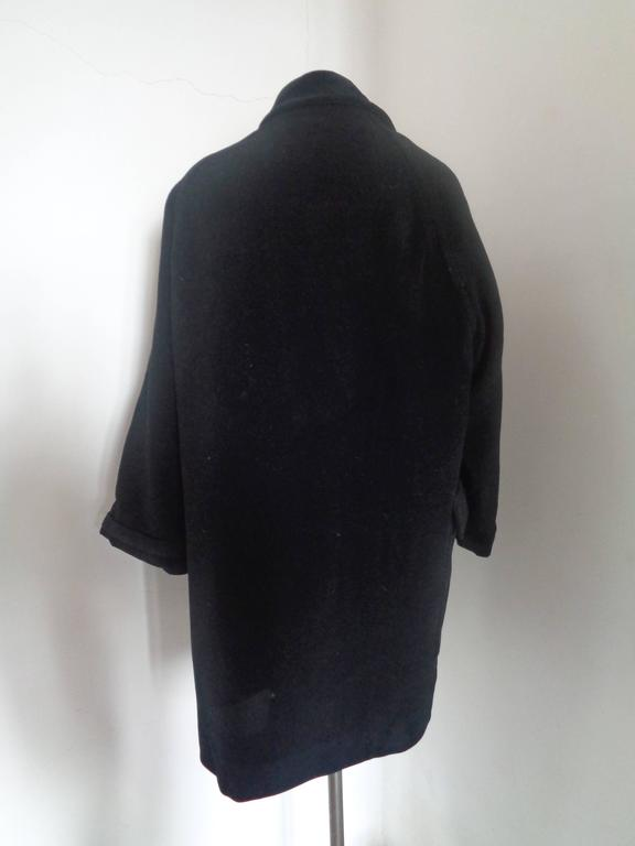 Moschino Cheap & Chic Black Wool Coat  Totally made in italy in italian size range 42  Composition: Wool and other