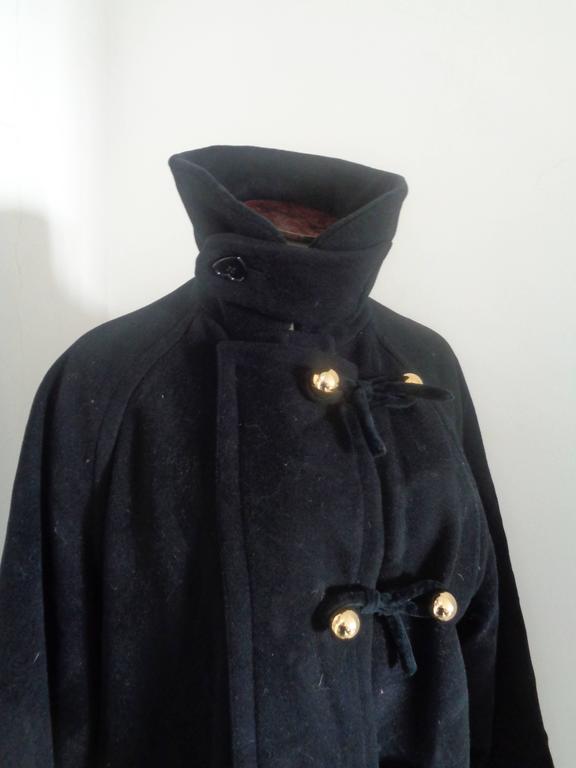 Women's Moschino Cheap & Chic Black Wool Coat For Sale