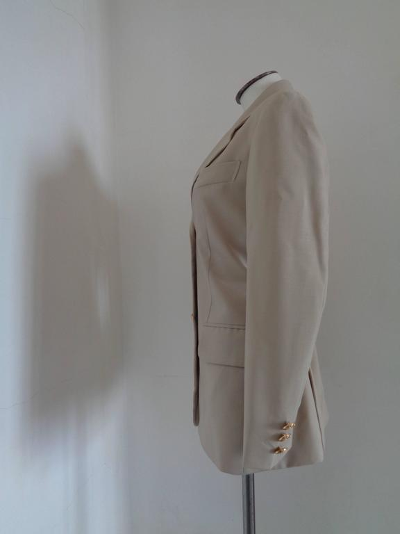Moschino Cheap & Chic beije Wool Jacket In Excellent Condition For Sale In Capri, IT