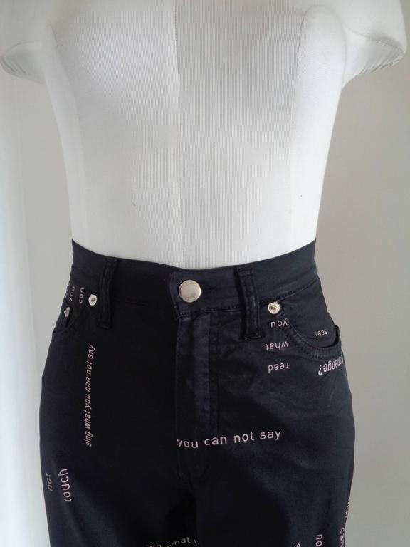 Moschino Jeans Black Jeans  Totally made in italy in italian size range 42  Composition: acetate, rayon and elastane