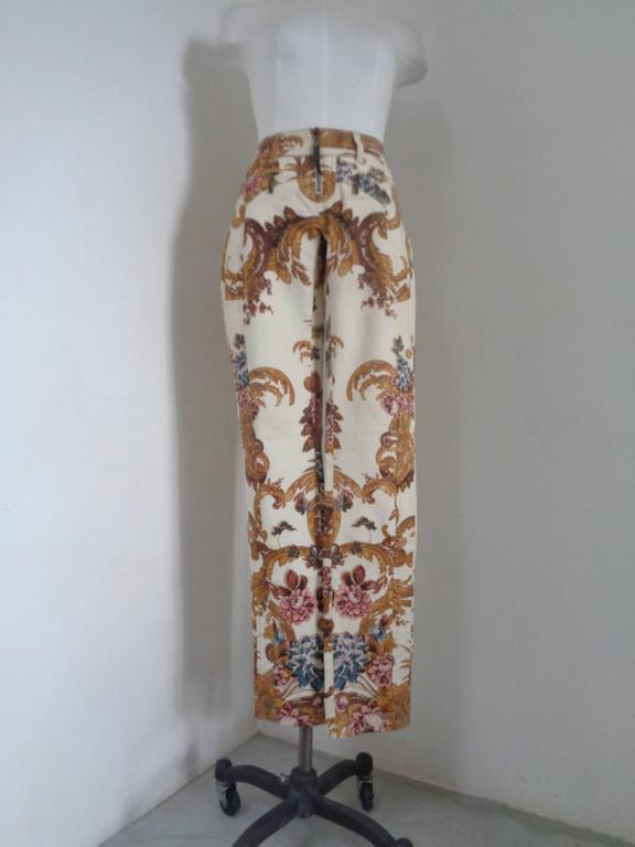 Roberto Cavalli Beije Multicolour Pants NWOT  Embellished with a black corn   Totally made in italy Still with original tags