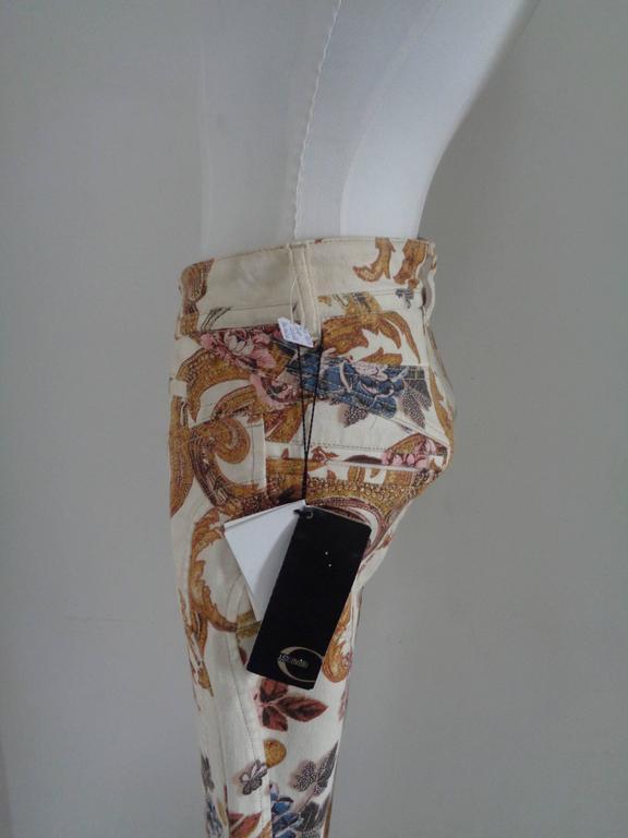 Roberto Cavalli Beije Multicolour Pants NWOT In New Never_worn Condition For Sale In Capri, IT