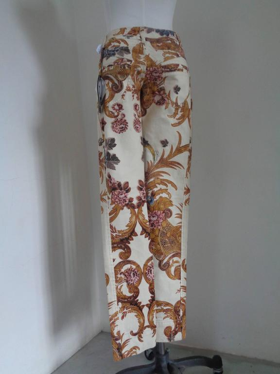 Gray Roberto Cavalli Beije Multicolour Pants NWOT For Sale
