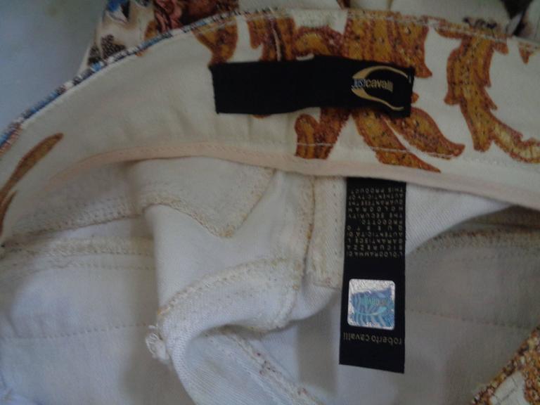 Roberto Cavalli Beije Multicolour Pants NWOT For Sale 1