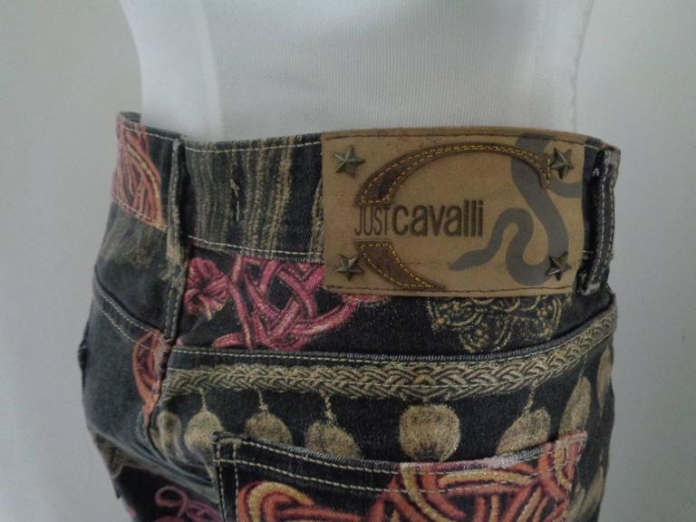 Roberto Cavalli Multicolour Pants In Excellent Condition For Sale In Capri, IT