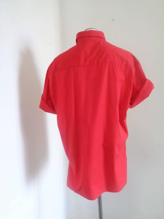 Moschino Red Cotton shirt For Sale 1