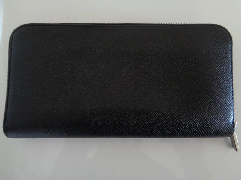 Tod's Black Leather Silver Hardware Wallet  Totally made in italy