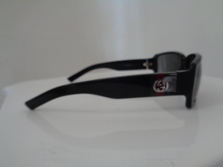 Gucci black sunglasses  Silver tone hardware