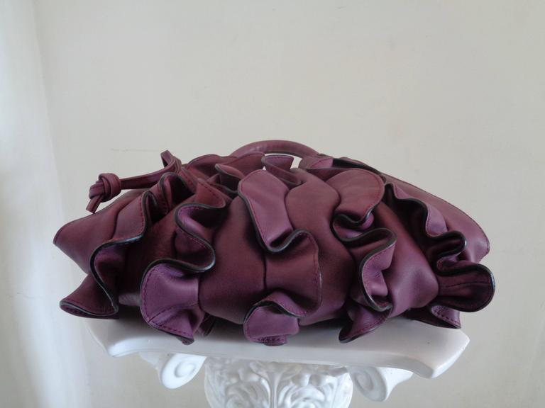 2013/2014 Fall-Winter Lupo Barcelona Purple Leather Bag ...