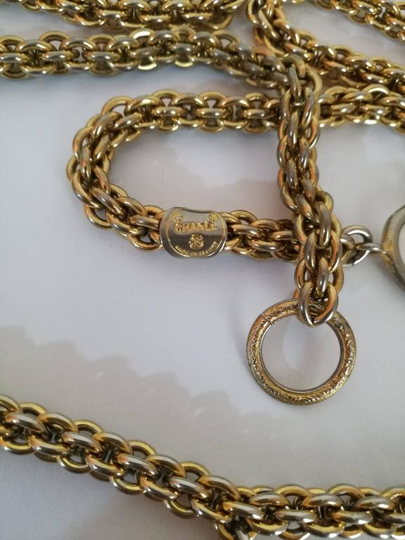 Chanel Gold Tone with CC logo Pendant Necklace 3