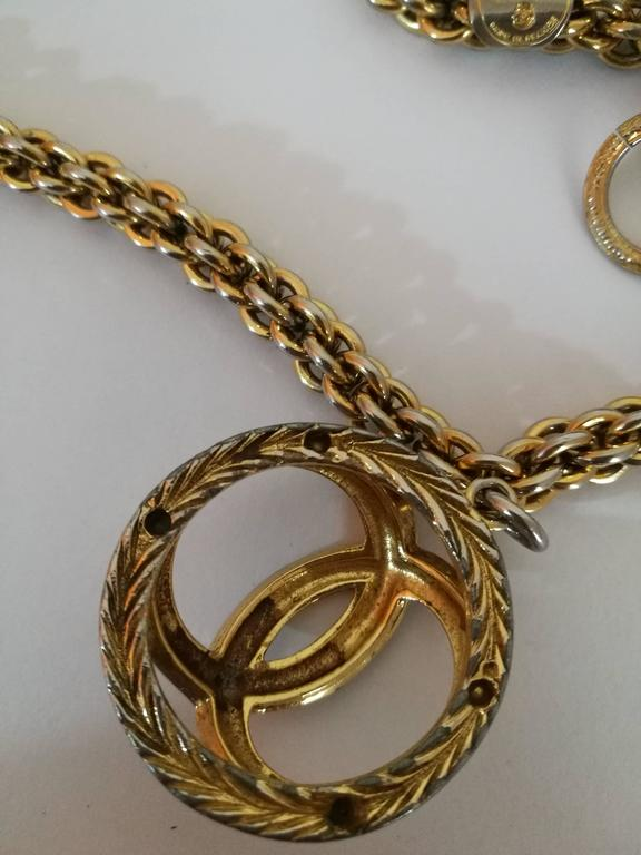 Chanel Gold Tone with CC logo Pendant Necklace 5