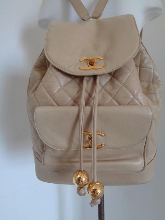 Chanel beije gold hardware Backpack 4