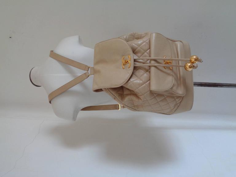 Chanel beije gold hardware Backpack 2