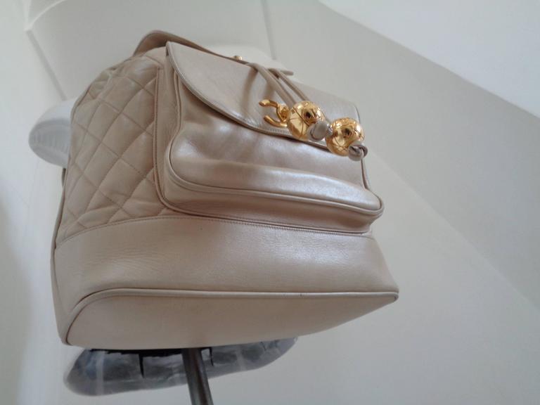 Chanel beije gold hardware Backpack 3