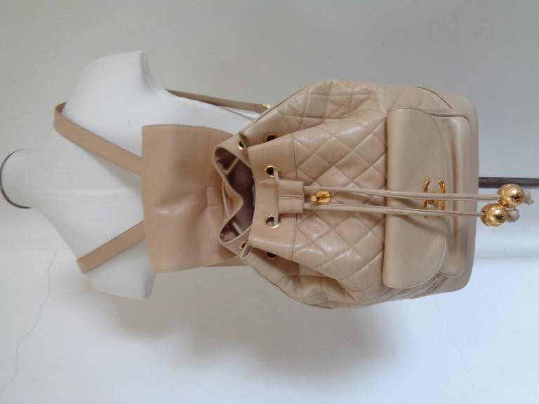 Chanel beije gold hardware Backpack 5
