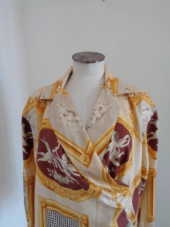 Christian Dior rare vintage silk shirt blouse 2