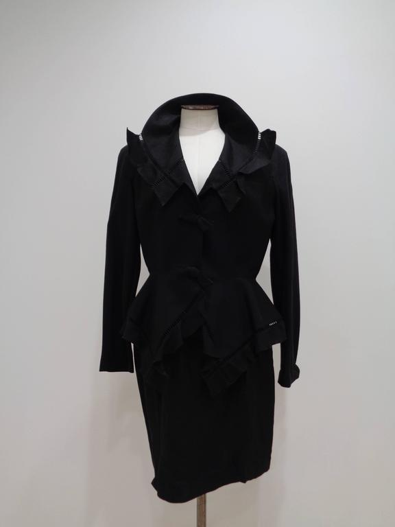 Thierry Mugler Black skirt suit  size 42