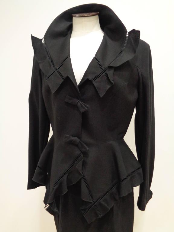 Thierry Mugler Black skirt suit In Excellent Condition For Sale In Capri, IT