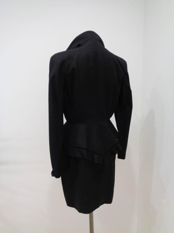 Women's or Men's Thierry Mugler Black skirt suit For Sale