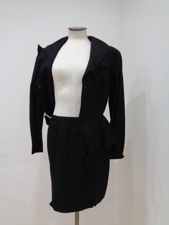 Thierry Mugler Black skirt suit For Sale 1