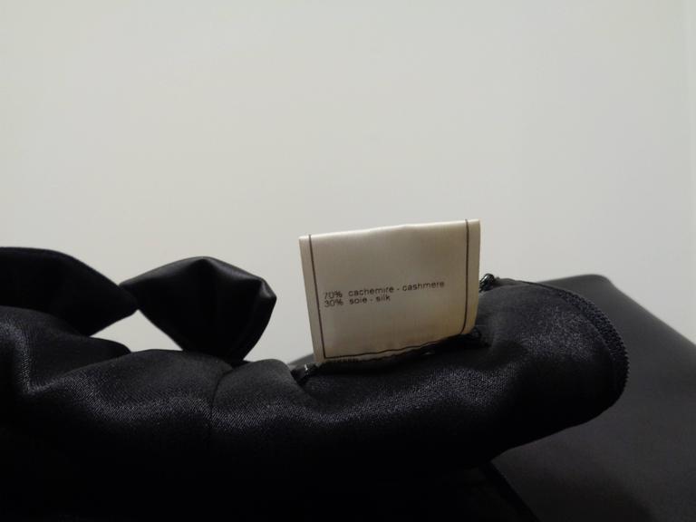 Chanel Black Leather Velvet Bows Dress For Sale 5