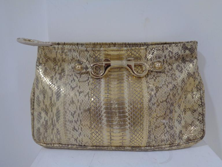 Jimmy Choo gold and silver tone pochette 2