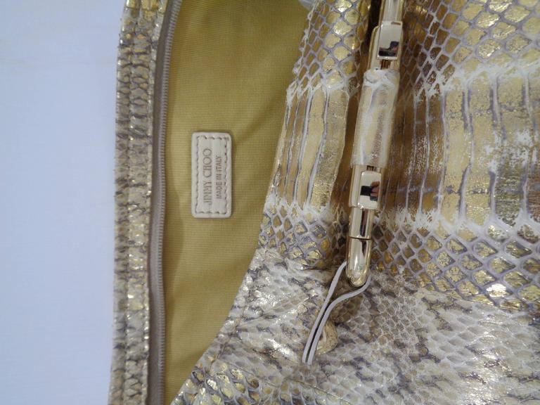 Jimmy Choo gold and silver tone pochette 4
