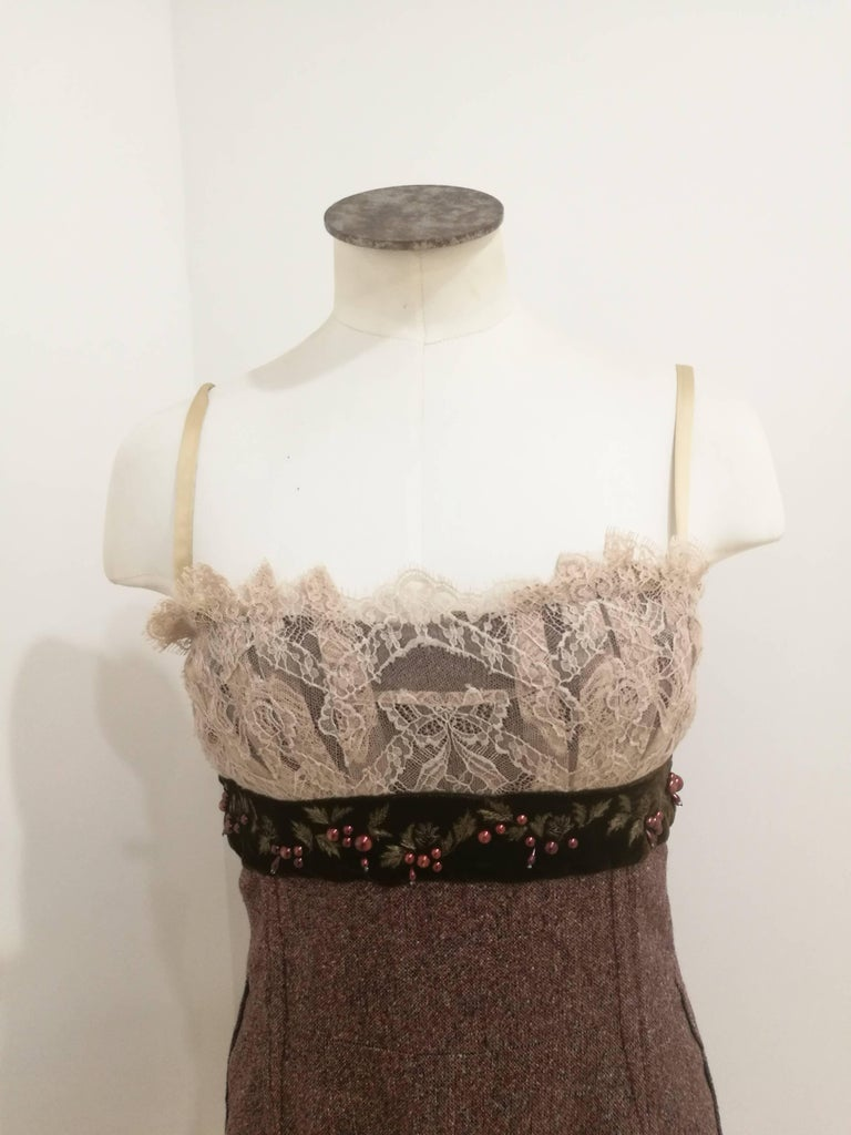 Dolce & Gabbana light purple wool Dress NWOT  Totally made in italy in italian size range 40  Composition: Wool and silk